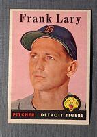 1958 Topps #245 Frank Lary Detroit Tigers EX