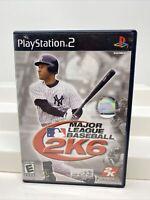 Major League Baseball 2K6 (Sony PlayStation 2, 2006) Ps2 Complete CIB