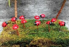 LADYBUG RED COLOR 5 MINIATURE DOLLHOUSE FAIRY GARDEN BEAUTIFUL