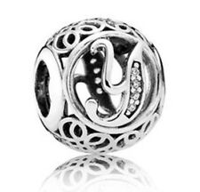 NEW! AUTHENTIC PANDORA Vintage Y Charm with CZ - 9033-1
