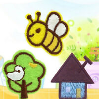 3pcs/1set Embroidered Cloth Iron On Patch Sew Motif Applique Bee Tree House TB