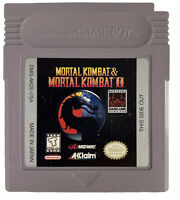 Mortal Kombat 1 And 2 Combo Cart Nintendo Gameboy- Tested & Cleaned Rare
