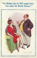 RUDE RISQUE COMIC DONALD McGILL DOCTOR & FANCY LADY POSTCARD - EXCELLENT UNUSED