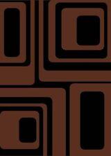 "modern BROWN CONTEMPORARY squares CARPET 6x8 area RUG : Actual 5' 3"" x 7' 4"""
