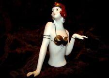 Demi-poupee Mata Hari Sexy Half Doll Pincushion Style Art Deco-allemand