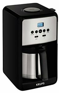 KRUPS ET351 Coffee Maker Coffee Programmable Maker Thermal Carafe 12 Cup Black