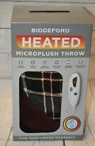 BIDDEFORD Electric Heated  Micro Plush Throw