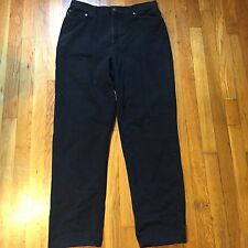 Ralph Lauren Black Jeans Size 12 High Waisted Starigh Leg Pants II