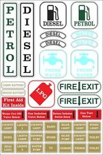 Canal/Narrow Boat | Safety & Switch Stickers | Waterproof | FREE POSTAGE | BB038