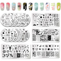 NICOLE DIARY Stamping Plates Marble Dandelion Theme Liner Theme Nail Art Tool