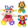 Baby Tiere Cartoon Playmate Puppe Beißring Kinder Plüsch Rasseln Spielzeug
