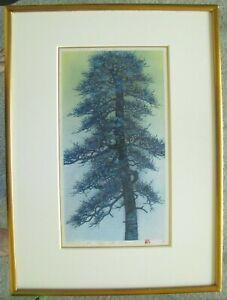 """Hajime Namiki -  """"Tree Scene 26""""  -  Beautiful 1993 Woodblock - EXCEPTIONAL!"""