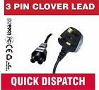 C5 CLOVERLEAF 3 PIN MAINS CABLE CLOVER LEAF POWER LEAD POWER CORD FOR UK