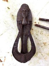Antique Original Kenrick 446 Egyptian Pharaoh Cast Iron Door Knocker