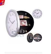 Argent horloge murale avec secret compartiment caché sécurité argent cachette bijoux nouveau