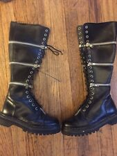 Pre-owned GOTHIC DEMONIA ZIPPER KNEE HIGH PUNK ROCK BOOTS 40W