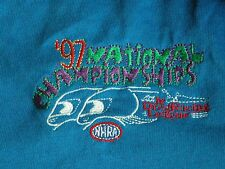 Vtg 1997 National Champships NHRA Pocket Navy POLO T Shirt Jr. Drag Racing XXL