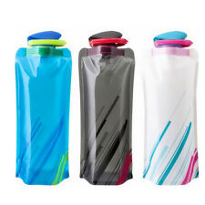 Faltbare Trinkflasche Flasche Wasserflasche Fahrradsportflaschen 700ml PAL