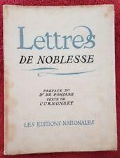 ROQUEFORT SOCIÉTÉ: lettres de noblesse. LIVRET PUBLICITAIRE 1935 (lithographie)