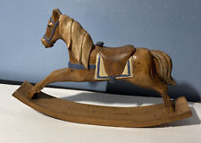 vintage Miniature Wood Hand Painted Rocking Horse Mold 83' Oh?