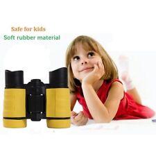 Kids Binoculars Children Binocular 4X30 Yellow Plastic Binocular Toy Magnifier