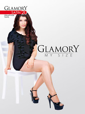 Glamory satin 20 Style 50122 tights Black and Teint (Nude) Sizes to 4XL