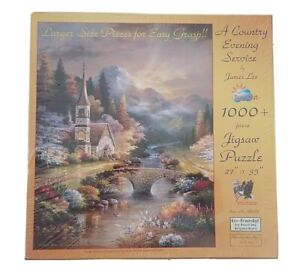 """**NEW** PUZZLE SUNSOUT """"A COUNTRY EVENING SERVICE"""" 1000 + LARGE PIECE  27"""" X 35"""""""