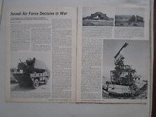 12/1973 ARTICLE 4 PAGES ISRAELI AIR FORCE DECISIVE IN WAR SAM BATTERIES ARAB AIR