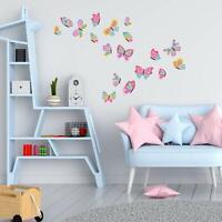 Wandtattoo Schmetterlnge Kinderzimmer Mädchen  Wandaufkleber Wandsticker 18 Stk.
