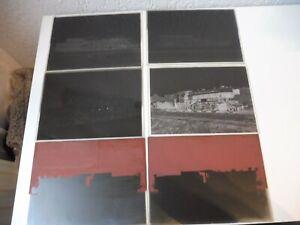 6 alte Negativplatten , Negative Lokomotiven , Fried. Krupp Maschinenfabrik