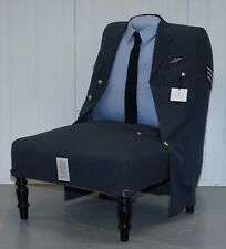 BRAND NEW RRP £3659 TRENIQ THE ROYAL AIR FORCE UNIFORM ARMCHAIR RARE UNIQUE FIND