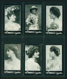 6 x ACTRESSES – B. MORRIS & SONS – 1898