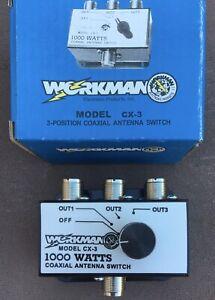 Workman CX3 Hi Power 1000 Watt 3-Way CB / Ham Radio Antenna Switch