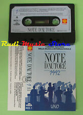 MC NOTE D'AUTORE UNO 1 compilation SHELL 1992 GLORIA GAYNOR DONNA SUMMER no cd *