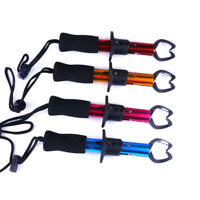 DI- Stainless Steel Fish Lip Grabber Gripper Fishing Grip Tackle Scale One-hande