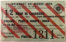 More details for original 1954 world cup semi-final ticket uruguay v hungary
