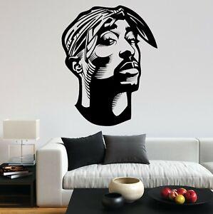 2PAC Tupac Shakur Rapper RNB Portrait Music Fun Decal Wall Art Sticker Home UK