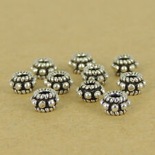 10 Pcs 925 Sterling Silver Spacers Vintage DIY Jewelry Making WSP397X10