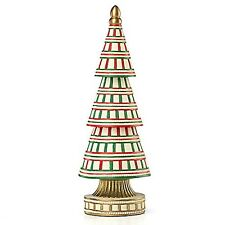 Lenox Candy Cane Christmas Tree Medium 11 1/2""