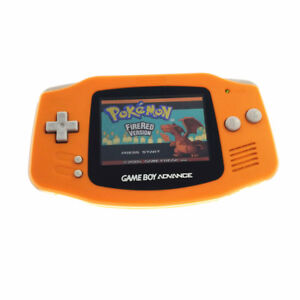 Orange Game Boy Advance w/ AGS-101 Brighter Backlight Screen Backlit Console