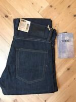 EDWIN Japan EX62 Regular Kita Blue Denim Jeans 12.5oz Blue Unwashed BNWT 31W/32L