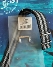 NEW OMEGA GENUINE 20mm STEEL BUCKLE 94512002 c/w quality 20mm SPECTRE NATO STRAP