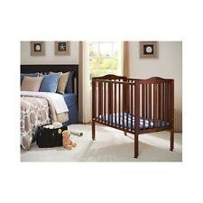Portable Baby Crib With Mattress Mobile Modern Folding Wheels Adjustable Wood