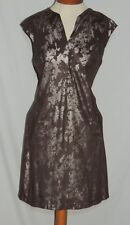 Vivienne Tam Cute Camo Print Dress w Silver Spots sz 8 b- 39 1/2