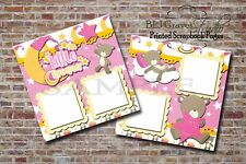 Baby Girl Shower Pink Sleep Dream 2 PRINTED Premade Scrapbook Pages BLJgraves 45