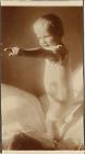 Bébé en chemise Vintage silver print Tirage argentique 6x11 Circa 1930