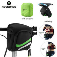 Rockbros Bike Handlebar Front Pannier Small Shoulder Storage Bag With Rain Cover