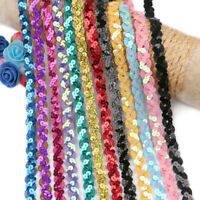 5Yards Colorful glitter Sequins Lace Fabric Trim For DIY Wedding Party Decor