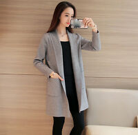 new spring autumn Korean fashion loose cardigan knitting cashmere sweater coat