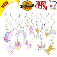 Unicorn Party Supplies Hanging Swirls For Birthday Decorations Theme Favors 30 C